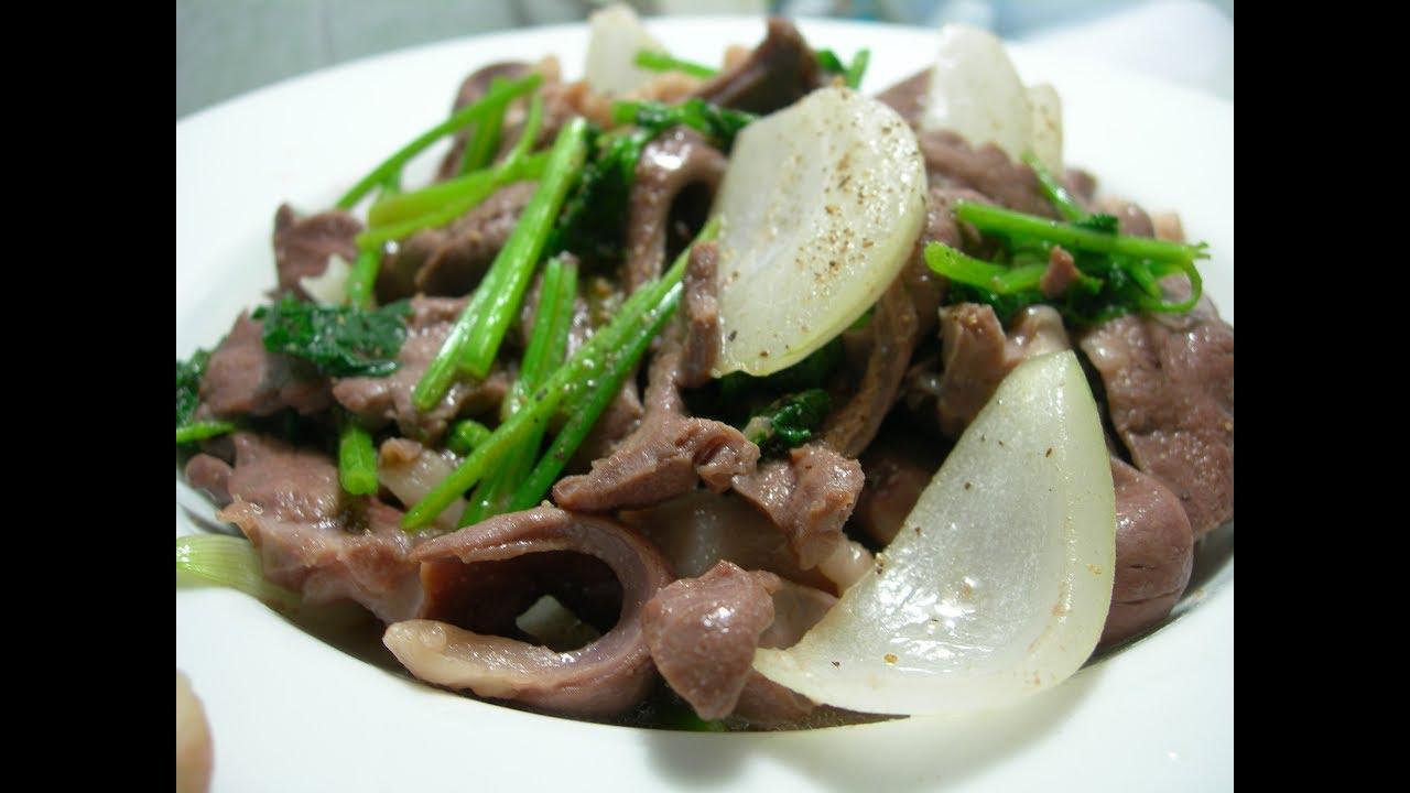 Cách làm món Tim bò xào cần tây (cần nước) giòn sần sật, xanh cả ngày by Ẩm thực Việt