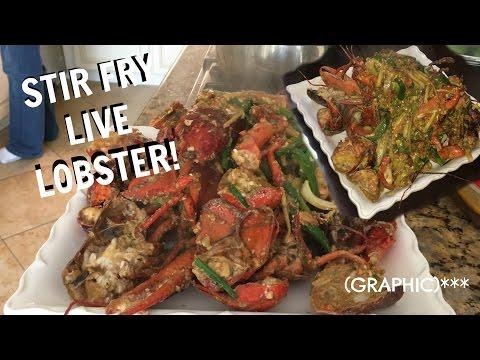 EASY Asian Stir Fry Lobster Recipe! (Lao Ginger Sauce) | @dymondkay