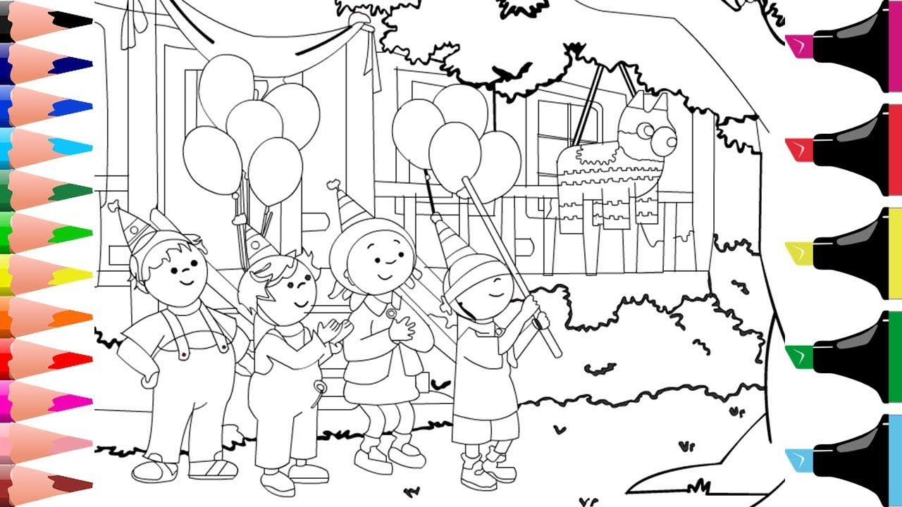 Colouring Caillou Colouring For Kids Colouring Page Caillou