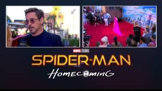 Robert Downey Jr. Makes an Entrance at the Spider-Man: Homecoming Red Carpet World Premiere