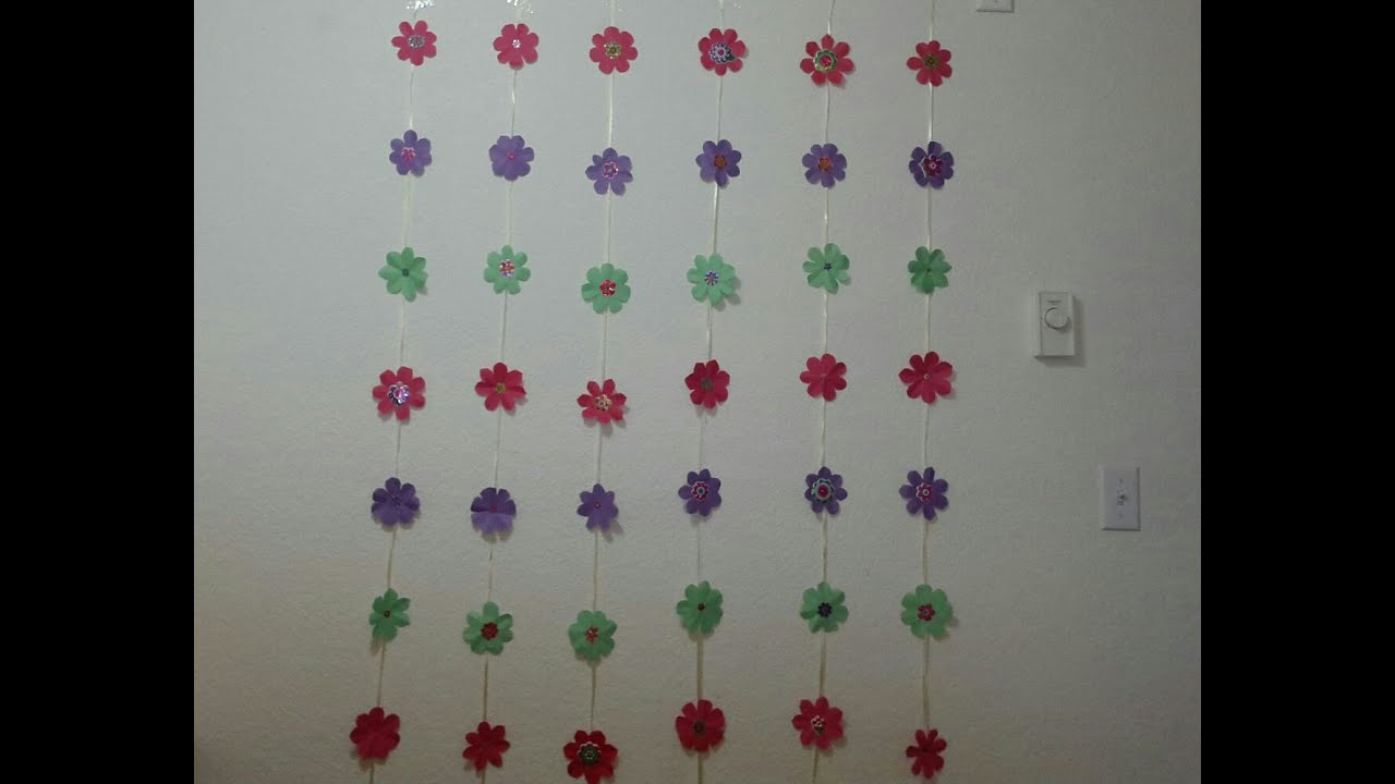 Simple Birthday Decoration On Wall : Diy paper wall hanging for party birthday festivals and