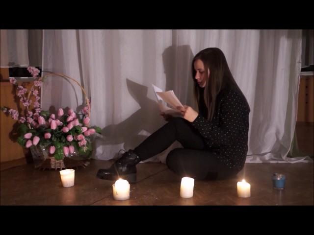 Изображение предпросмотра прочтения – «Творческая группа 10 класса» читают произведение «Она сидела наполу…» Ф.И.Тютчева
