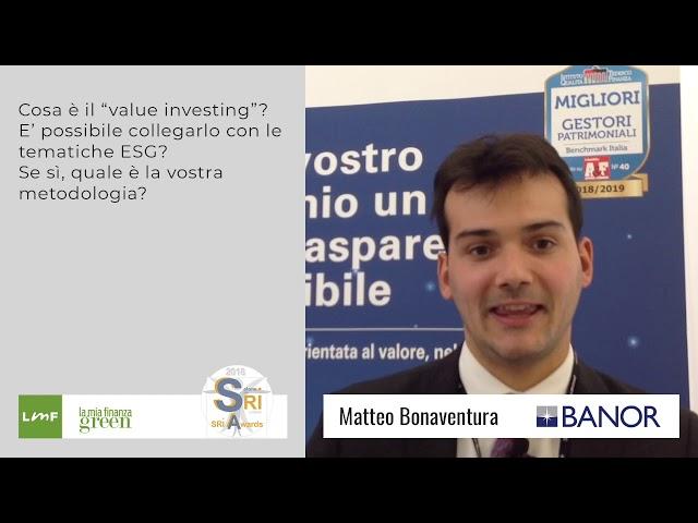 Matteo Bonaventura (Banor) - Salone SRI 2018