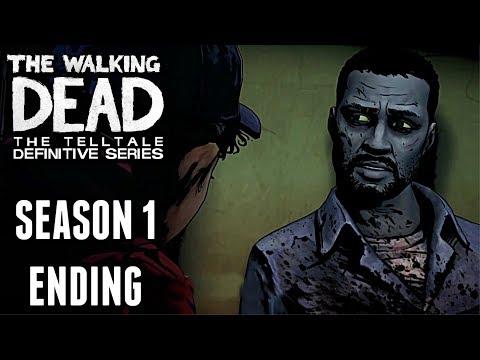 The Walking Dead: Definitive Edition SEASON 1 GAMEPLAY ENDING walkthrough (REMASTERED TWD)