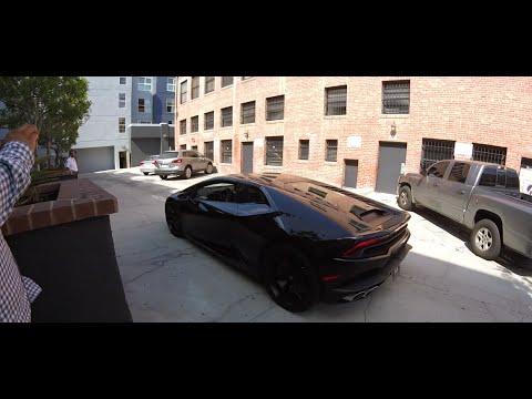 Tyga Pulls Up On A Lamborghini At His New Last Kings Store In Santa on tyga gold audi, tyga lamborghini crash, tyga and chris brown lamborghini aventador, tyga crashes his lamborghini,