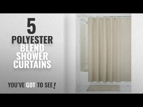 Top 10 Polyester Blend Shower Curtains [2018]: InterDesign York Hotel Fabric Cotton And Polyester