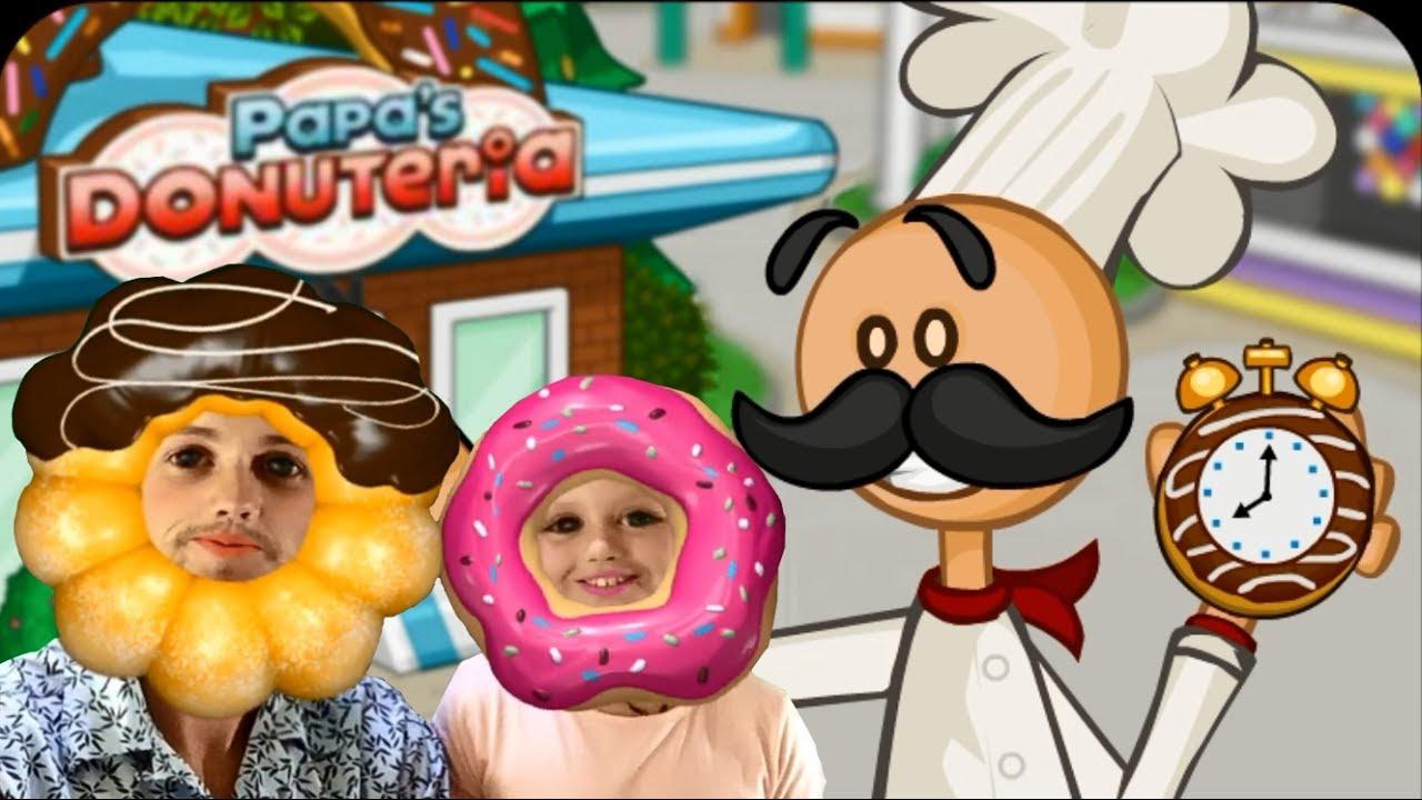 картинка папа луи пончики