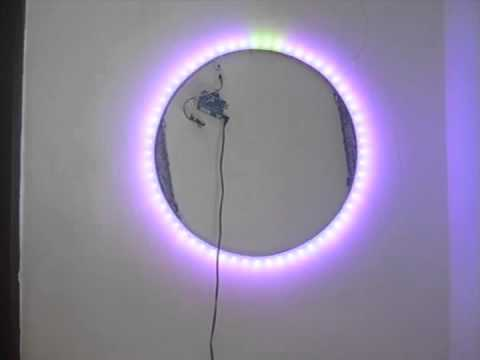 Homemade 60 rgb led wall clock youtube homemade 60 rgb led wall clock mozeypictures Images