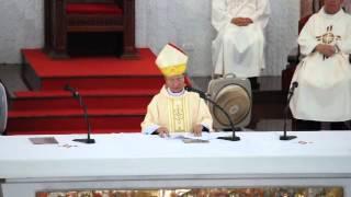 Bài giảng của Đức Cha Tôma Trong Thánh Lễ Truyền Dầu 2014
