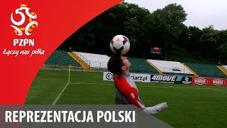 Co robi Lewandowski po treningu?/Great skills from Lewandowski:)