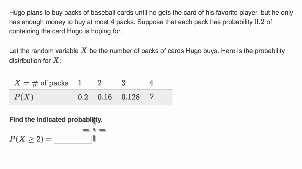 Example analyzing discrete probability distribution - YouTube