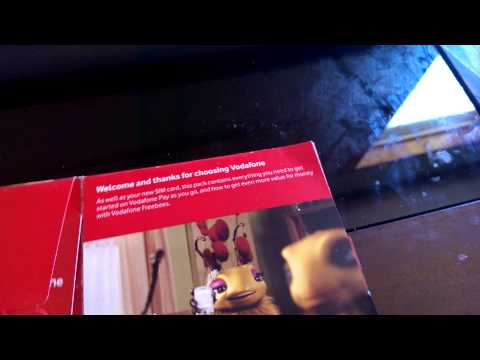 Vodafone UK Prepaid Sim Unboxing