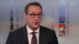Pressestunde mit Heinz-Christian Strache FPÖ | ORF2 08.04.2018