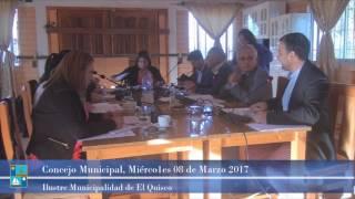 Concejo Municipal Miércoles 08 de Marzo 2017