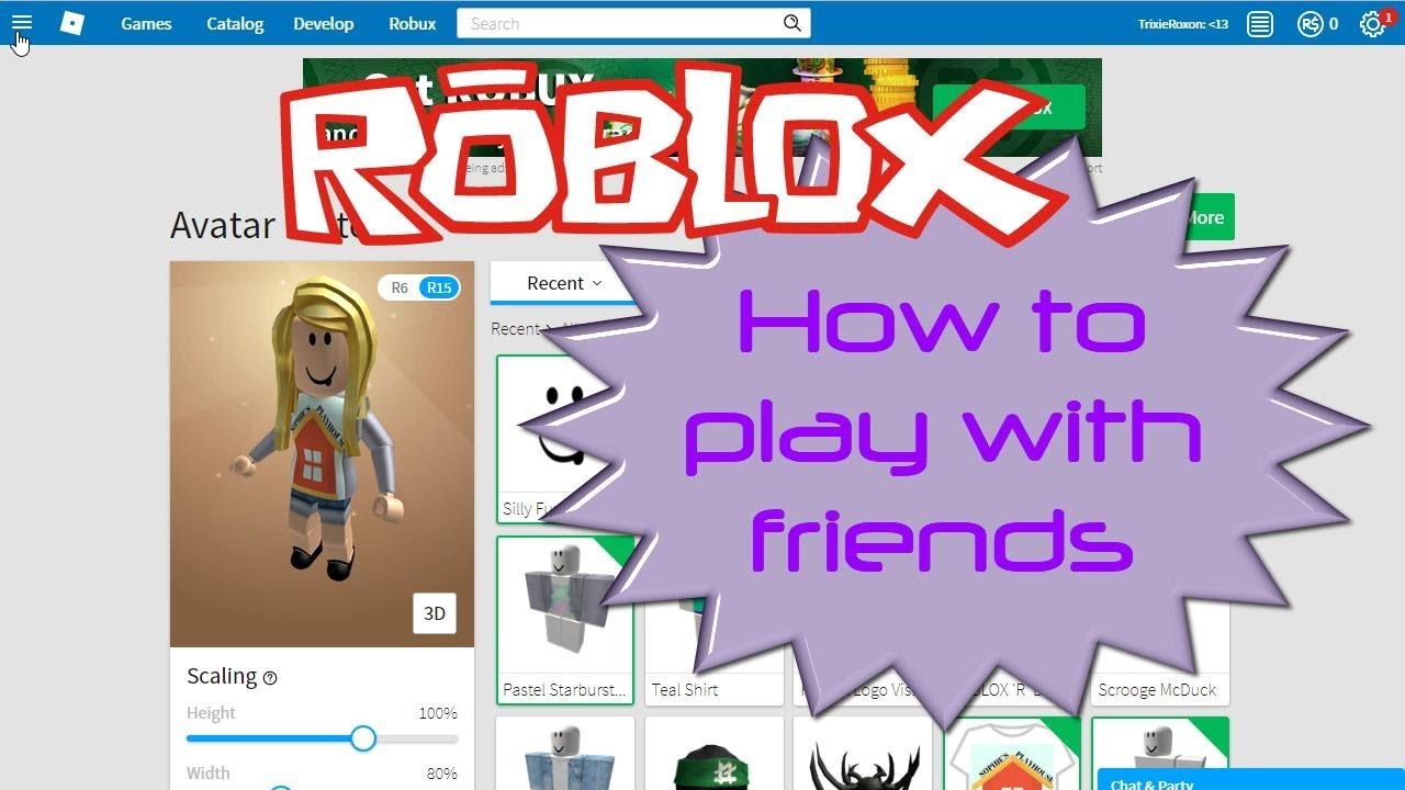 How To Play A Game In Roblox With Friends Roblox How To Join A Friends Game On Roblox Youtube