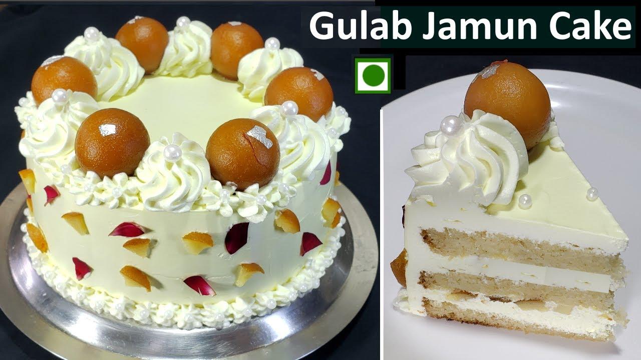 बिना अंडा बिना ओवन बेकरी जैसा सॉफ्ट और स्पंजी गुलाबजामुन केक | Gits Easy Instant Gulabjamun recipe