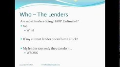 Harp 2.0 Refinance Program Webinar featuring FAQs and the Step-by-Step Process