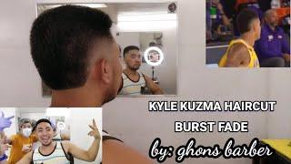 KYLE KUZMA HAIRCUT (BURST FADE) | jerickmoro TV