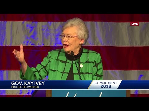 Kay Ivey speaks after winning the Alabama governor's race