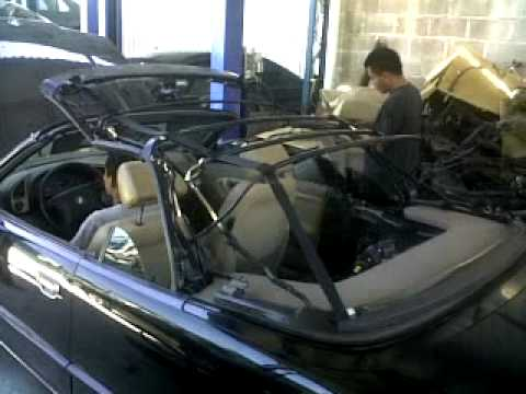 BMW E36 323i CONVERTIBLE TOP MOVEMENT by INGJJCRUZ  YouTube