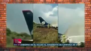 Авиакатастрофа в Мексике. Крушение самолёта, видео одного из пассажиров (31.07.2018)
