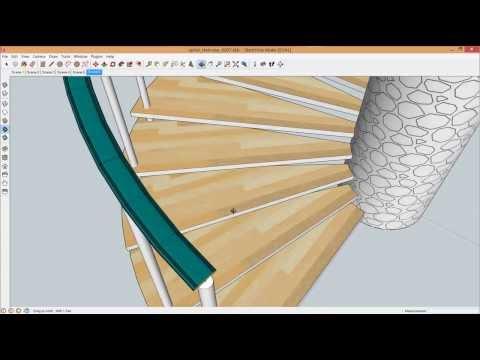 Hướng dẫn sử dụng phần mềm Sketchup, phần 4: Vẽ cầu thang xoắn (Vietnamese)