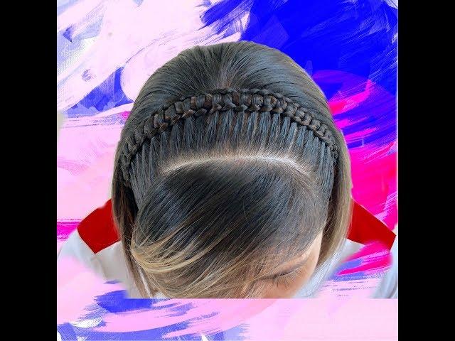 Trenza para cabello corto / Trenza Pasa Cinta en Diadema