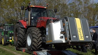 Case IH 310 Magnum w/ Equipped SyreN Front weight Pulling The Heavy Sledge   Tractor Pulling DK