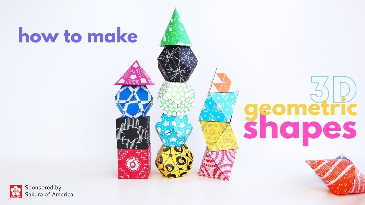 Math Art Idea: Make 3D Geometric Shapes