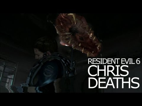 Chris Redfield Death Scenes - Be Killed Awesomely Title Resident Evil 6 |
