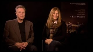 Christopher Walken & Catherine Keener - A Late Quartet Interview with Tribute at TIFF 2012