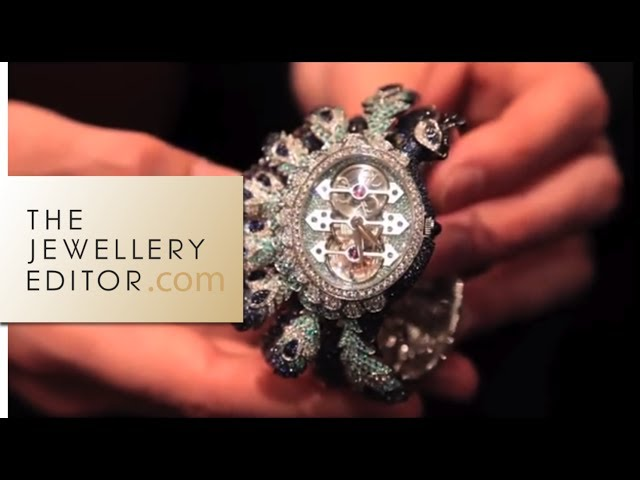 Boucheron's peacock high jewellery watch: bestiary of animals