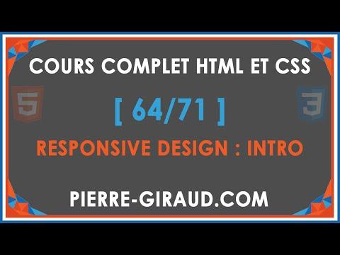 COURS COMPLET HTML ET CSS [64/71] - Introduction Au Responsive Design