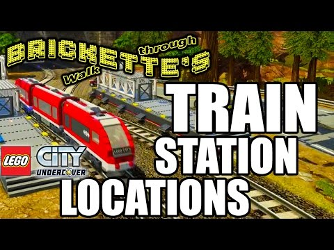 "TRAIN STATION Locations for ""LEGO City: Undercover"", Super Fast Travel Red Brick + Train Driver Bob"