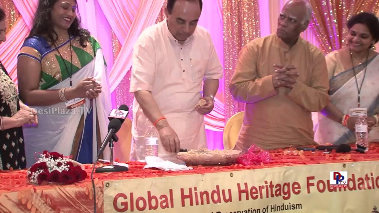 Celebrating Dr. Subramanian Swamy birthday in Dallas, Texas|| Desiplaza Dallas