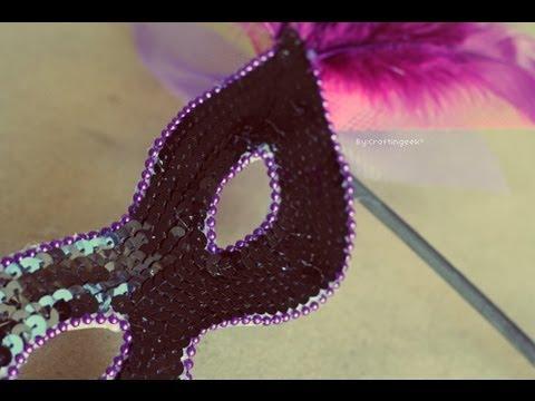 Antifaz Glam  Halloween  Carnaval  FACIL  Increible  YouTube