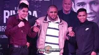 LEO SANTA CRUZ VS. RAFAEL RIVERA - THE FULL FINAL PRESS CONFERENCE & FACE OFF VIDEO