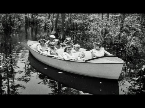 HD Historic Archival Stock Footage Okefenokee Swamp Readied For Boat Tours 1946