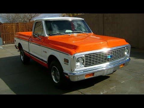 1972 Chevrolet C10 Cheyenne Super Short Bed Pickup Truck Restoration Project