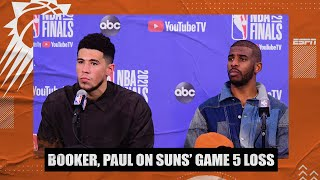 Devin Booker, Chris Paul react to Suns' Game 5 loss vs. Bucks