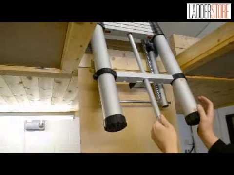 Using The Youngman Telescopic Loft Ladder   YouTube