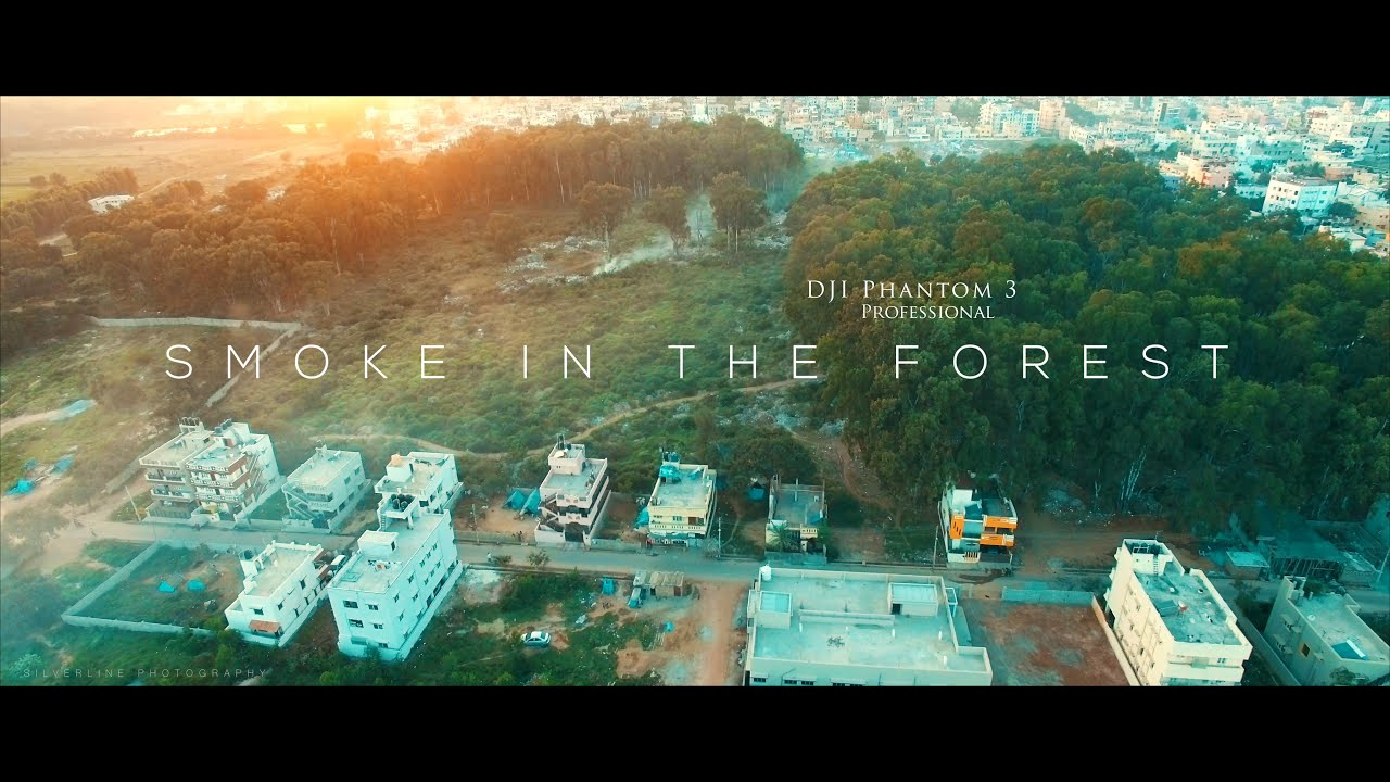 Smoke In The Forest DJI Phantom 3 Professional Silverline Photography