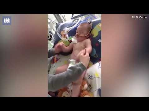 This is Alfie Evans the baby living with a brain condition