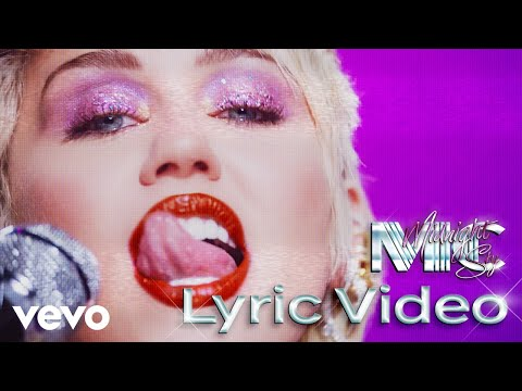 Miley Cyrus - Midnight Sky (Lyric Video)