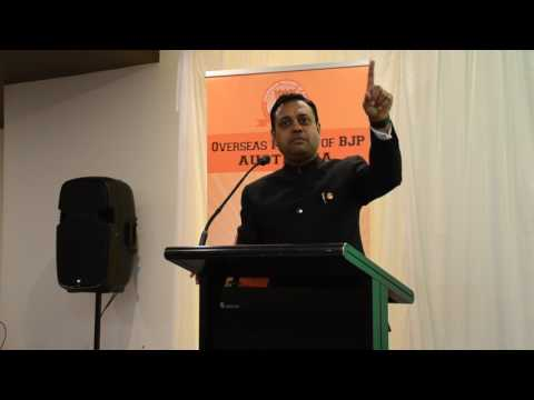 Dr Sambit Patra's Speech in Adelaide on 3 Years of Modi Gove