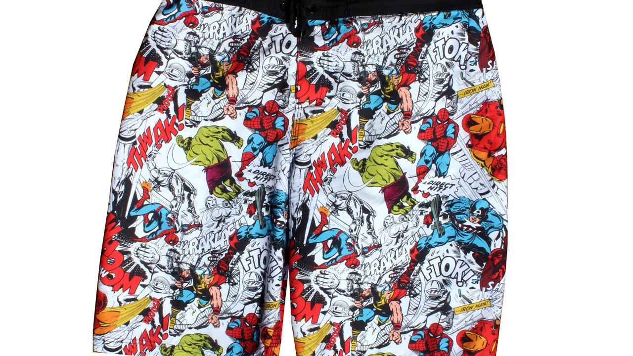 7918f51b50 Marvel Swim Trunks - Fashion Review - YouTube