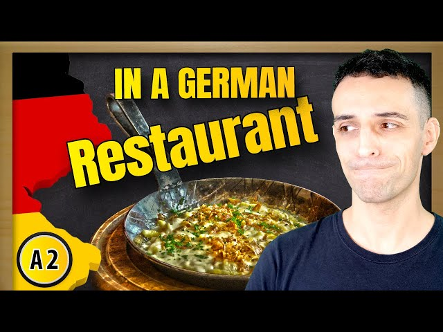 Learn how to order food in a German restaurant | Im Restaurant