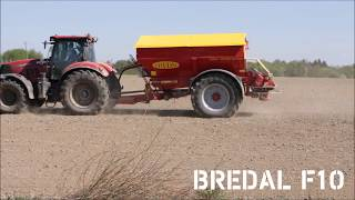 Bredal F10 Fertilizer Spreader // Spreading Chicken Pellets