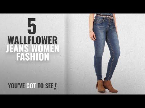 Wallflower Jeans Women Fashion [2018 Best Sellers]: WallFlower Women's Juniors High Rise