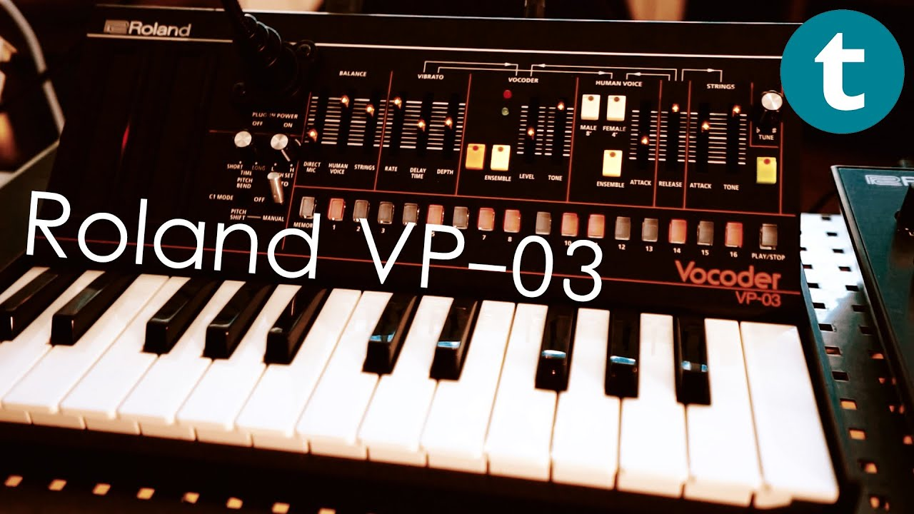first look at the roland vp 03 vocoder youtube. Black Bedroom Furniture Sets. Home Design Ideas